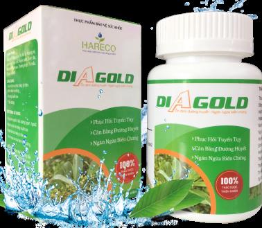 Thảo dược DiAgold - tăng cường insulin-ổn định đường huyết-ngăn ngừa biến chứng